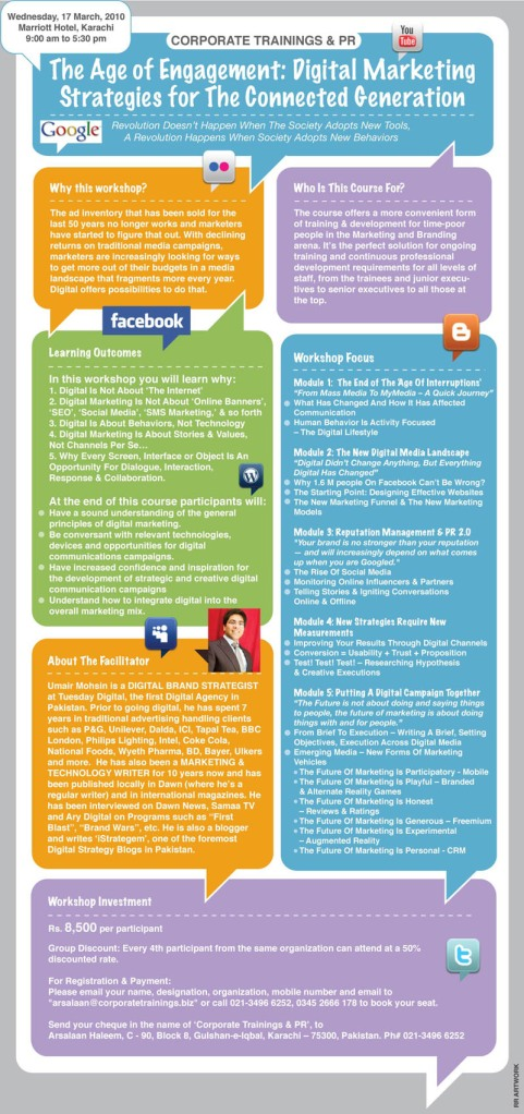 Digital Marketing Workshop Brochure